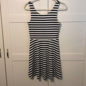 H&M black and white striped dress, size 6